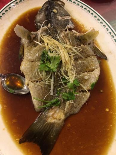 #3 steamed garoupa - sauce excellent fish a bit over