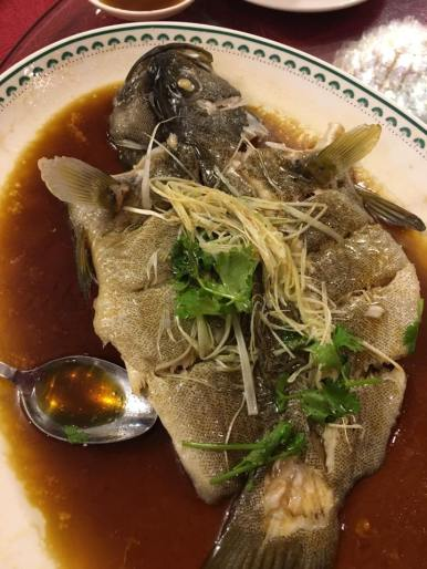 #3 steamed garoupa - sauce excellent fish a bit over