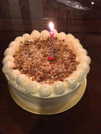 daughter bought carrot cake from cake spade