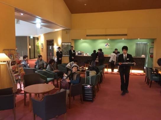 shikisai lobby - checking in