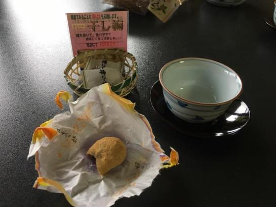mochi green tea @ shikisai ryokan room