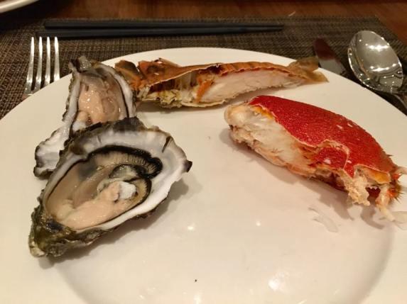 oyster, crayfish, spanner crab
