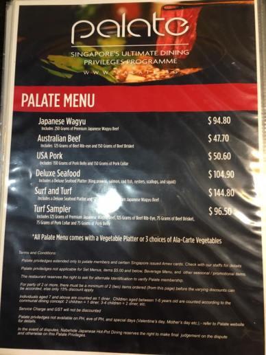 palate (lovedining) menu