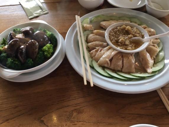 samsui chicken & mushroom brocoli