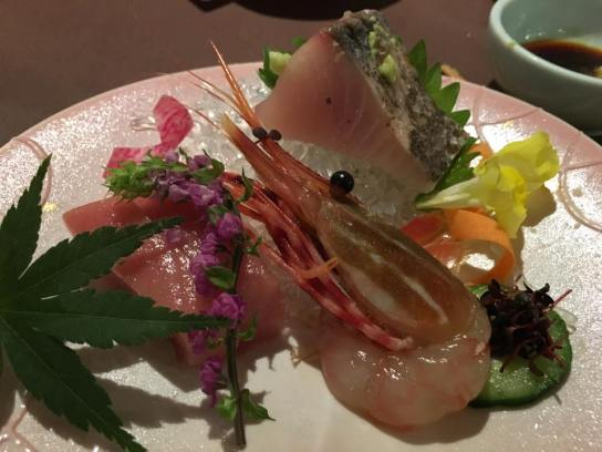 sashimi-was-good-chutoro-botan-ebi-maybe-sawari-spanish-mackerel