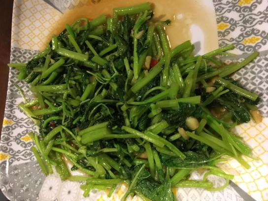 stirfried spinach