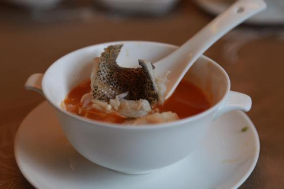 tiger garoupa poached in lobsyer broth