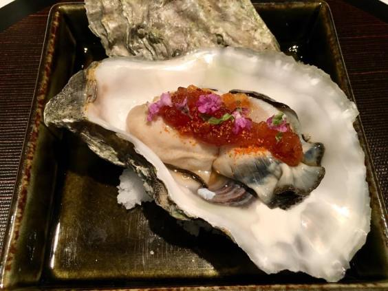 canadian oyster with ponzu jelly