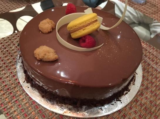 chocolate truffle cake from amara hotel