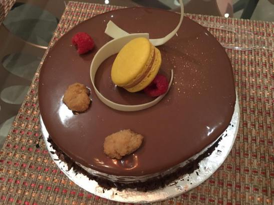 chocolate truffle cake from amara hotel