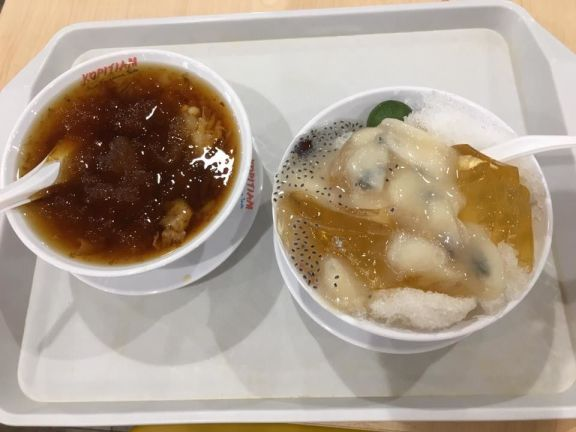 cold chengteng + soursop jelly