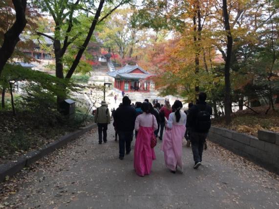 Day 1 - arriving at Buyongji Pond (부용지) area: Juhamnu Pavilion 주합루