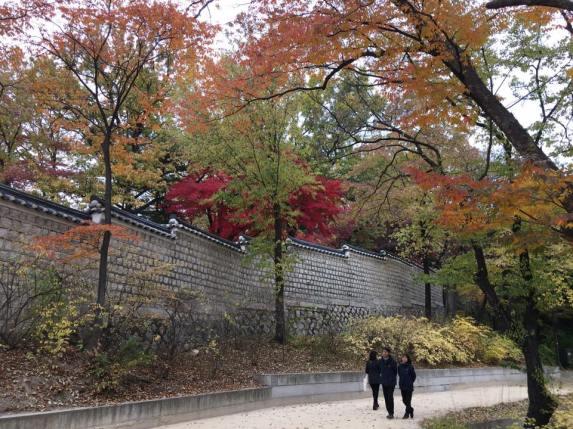 Day 1 - Changgyeonggung eastern palace 창경궁 昌慶宮, looking over to biwon secret gardens 秘苑