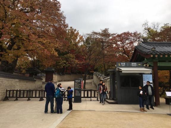 Day 1 - entrance to secret gardens biwon 秘苑, and to Changgyeonggung 창경궁 昌慶宮