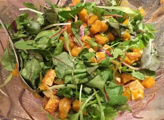 pumpkin tofu salad