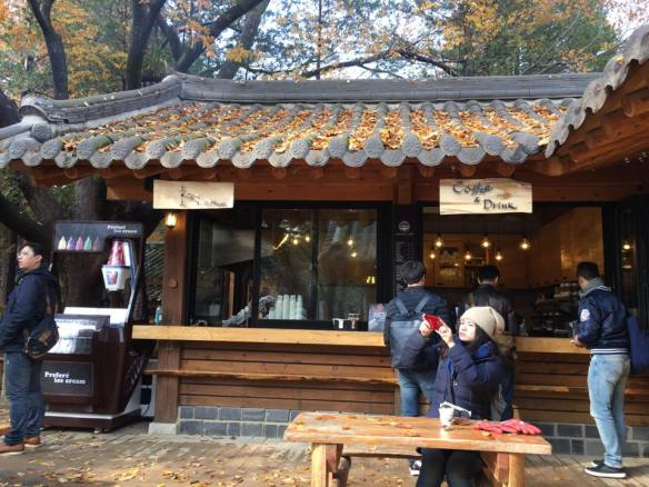 red bean fried pastry stall, nami Island 남이선 南怡岛