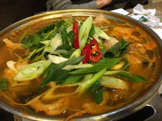 spicy monk fish hotpot