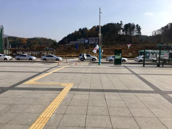 tour bus stop outside gapyeong station