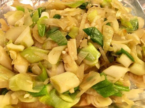 yellow onions & leek