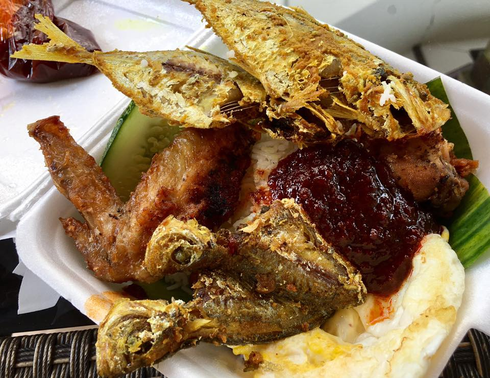 S 5 fish wings adam s nasi lemak adam road food for Fish and wings