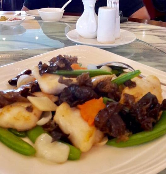 garoupa fillet with cloud fungus, lily bulbs, sweet peas = S$24 for medium