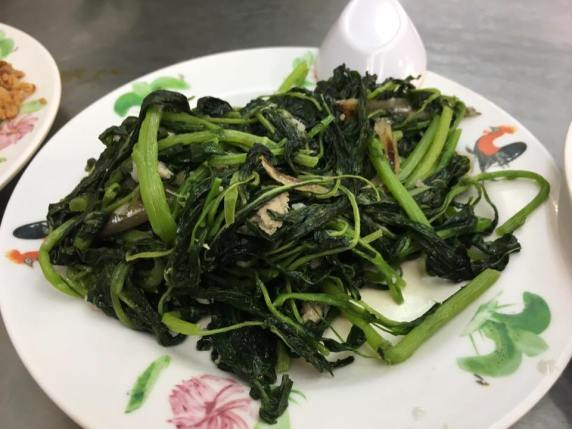 heng chye with ikan bilis