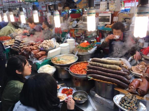 jogbal-blood-sausage-gwangjang-market-stall
