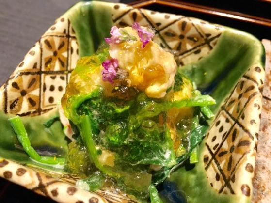 prawn & spinach aapetizer