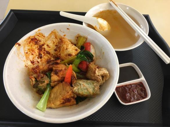 S$3.60 yong tau foo = 6 items