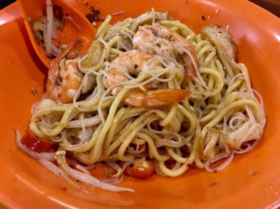 S$3 prawn noodles dry