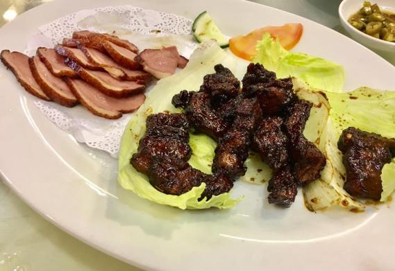 smoked duck with char siu