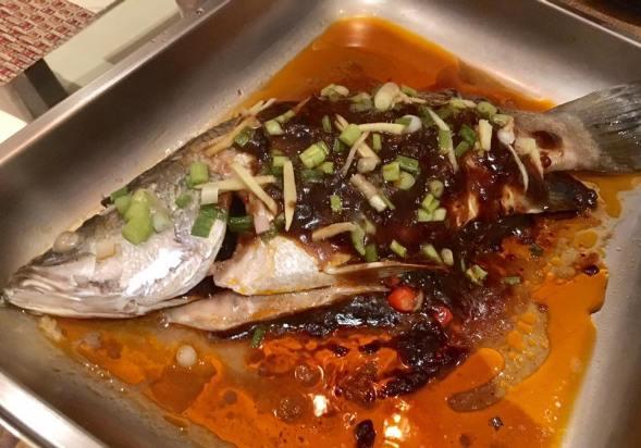 steamed spicy bean sauce seabass