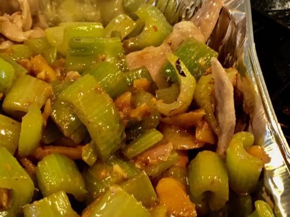 wine chicken + celery