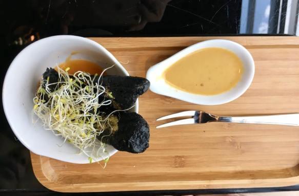 charcoal tempura