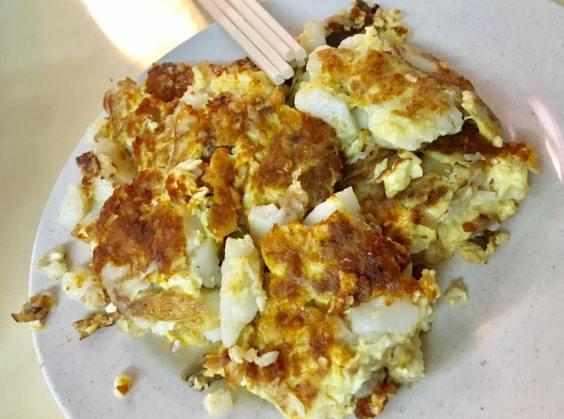 he zhong fried carrot cake