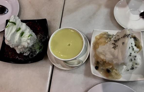 ice shavings-cendol & soursop