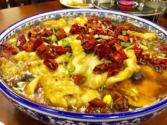 mala poached sliced fish 水煮鱼