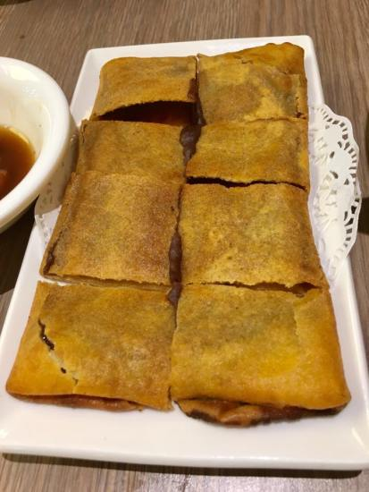 bean paste pancake 豆沙饼