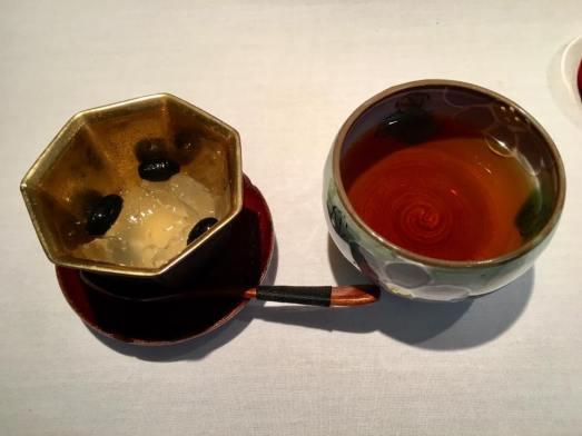 #8 kuromame - black beans, with yuzu jelly