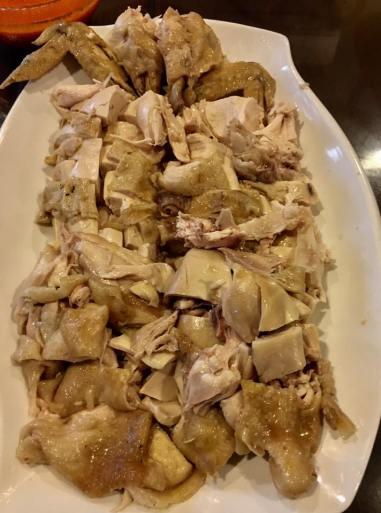 poached chicken + braised & steamed chicken