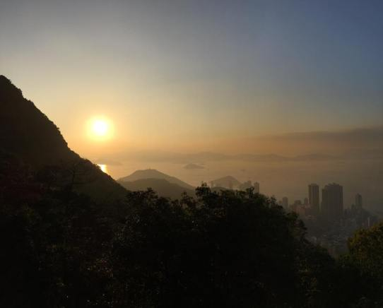 evening view from peak circle route