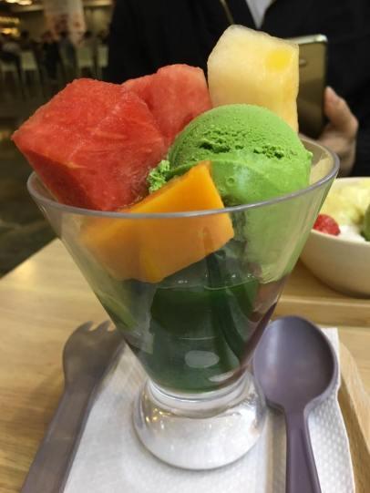greentea parfait @ honeymoon dessert 满记甜品