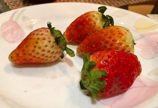 very sweet korean strawberries