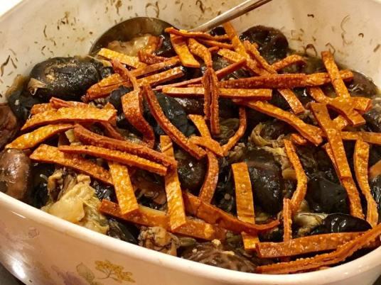 好事发财 = 蚝豉发菜 dried oyster dish