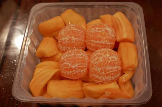 orange & jackfruits