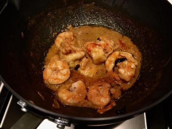 prawn in white wine sauce