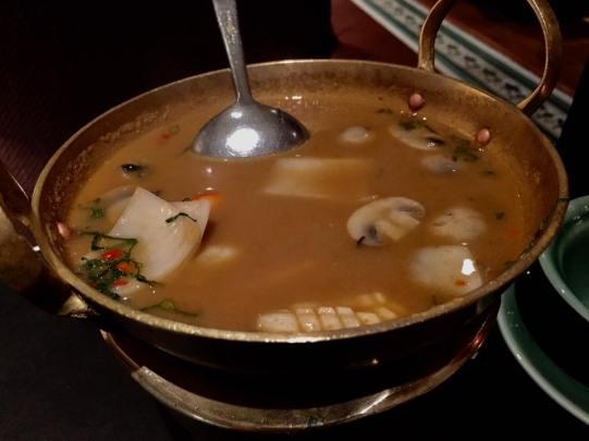tom yam talay (seafood) S$23