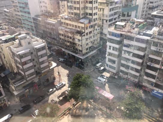 view from metropark hotel mongkok
