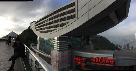 view of peak tower from peak galleria