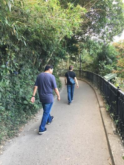 walking along peak circle route